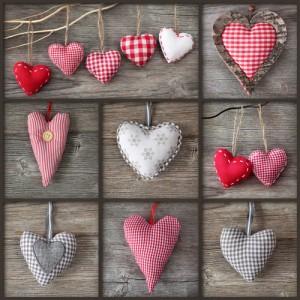 Stoffen hartjes maken