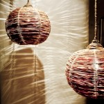 Rieten lamp effect