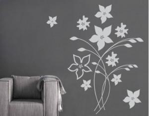 Muurstickers Slaapkamer Bloemen : Muur decal symbol of love voor de slaapkamer huisdecoratie