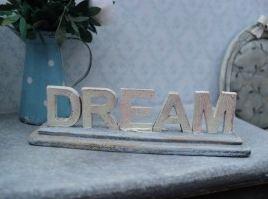 Houten decoratieletters dream