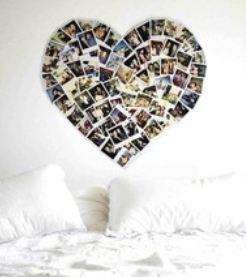 Fotohart slaapkamer